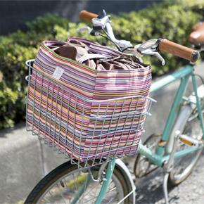 【完売】ミル・クラルテ 自転車かごにぴったりエコバッグ