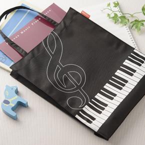 【完売】Piano line 縦型トート(ト音記号)
