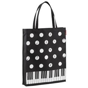 【完売】Piano line 縦型トート(水玉)