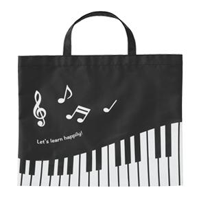【完売】Piano line 薄手マチなしトート(横)