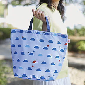 【完売】富士山柄 小さくたためるマイバッグ