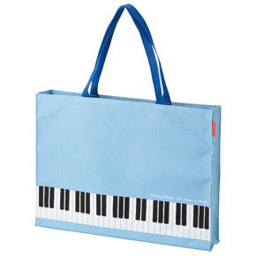 Piano line マチありレッスントート(ブルー)