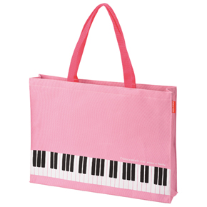 Piano line マチありレッスントート(ピンク)
