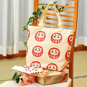 【完売】福だるま 小さくたためるマイバッグ