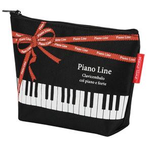 Piano line 舟形ポーチ(リボン)