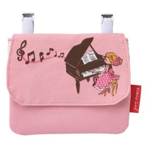 Piano line+ ポケットポーチ(黒猫と女の子)