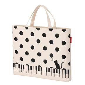 Piano line レッスンバッグ(ねこと水玉)