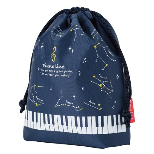 ピアノ+星座な巾着袋♪