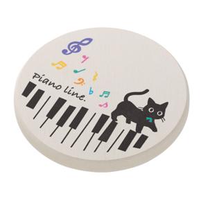 Piano line 珪藻土コースター(ねこ)