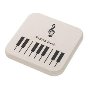 Piano line 珪藻土コースター(ト音記号)