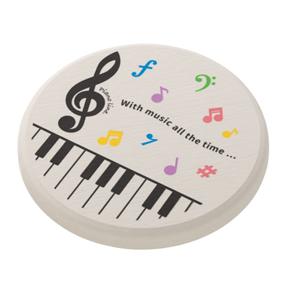 Piano line 珪藻土コースター(カラフル音符)
