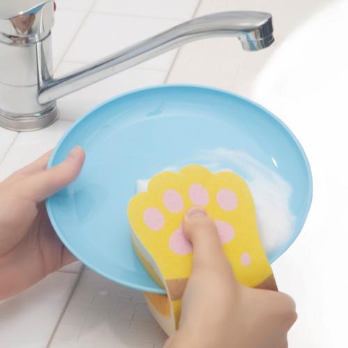 お皿には「挟み洗い」!