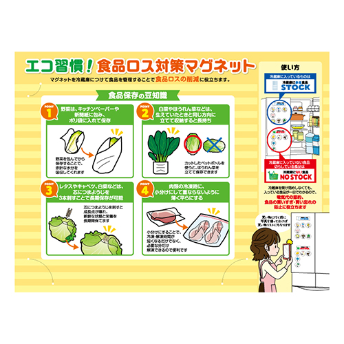 台紙には食品保存の豆知識が!