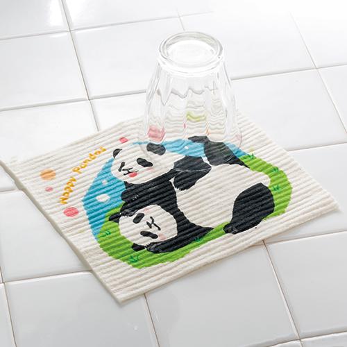 ハッピーパンダ 超吸水!エコふきん