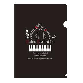 【完売】Piano line A4クリアファイル(猫)