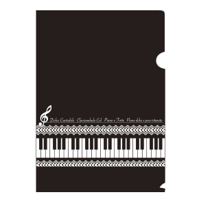 Piano line A4クリアファイル(レース)