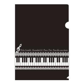 【完売】Piano line A4クリアファイル(レース)
