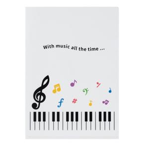 Piano line クリアファイル(カラフル音符)