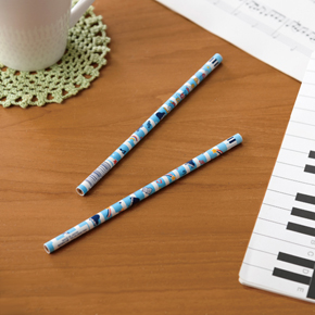 Piano line 2B 丸型黒芯鉛筆(スター)ブルー