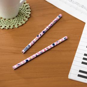 Piano line 2B 丸型黒芯鉛筆(スター)ピンク
