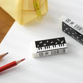 Piano line 消しゴム(音符)ブラック