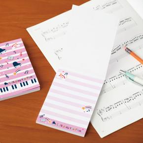 Piano line メモ帳(スター)ピンク