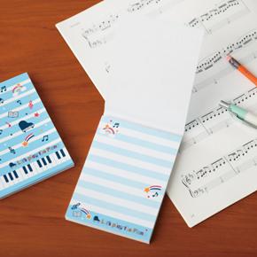 Piano line メモ帳(スター)ブルー