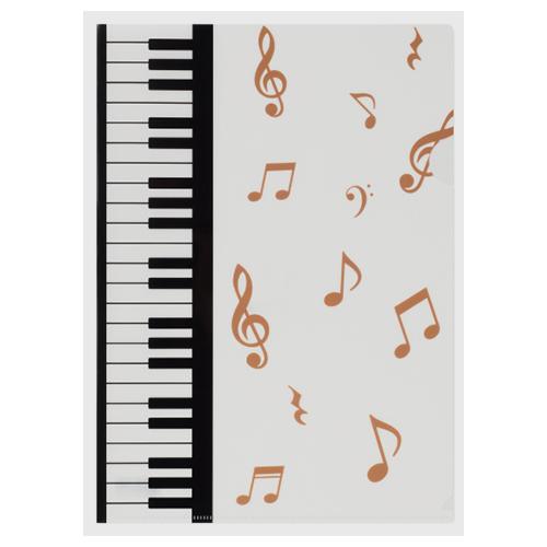 Piano line A4クリアファイル 裏面クリアタイプ(マーチ)