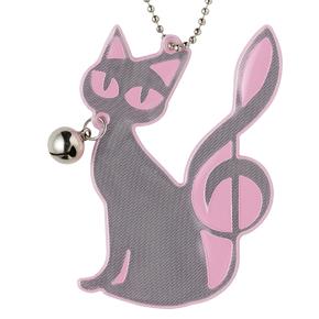Piano line 鈴付きリフレクター(猫)