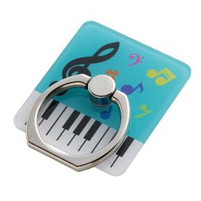 ピアノライン スマホリング(カラフル音符)