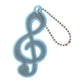 Music line リフレクター(ト音記号)ライトブルー