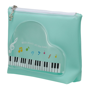 Piano line 窓付きミルキーポーチ ブルー