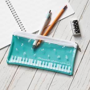 Piano line クリアペンケース(音符)グリーン