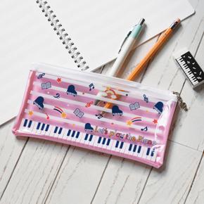 Piano line クリアペンケース(スター)ピンク