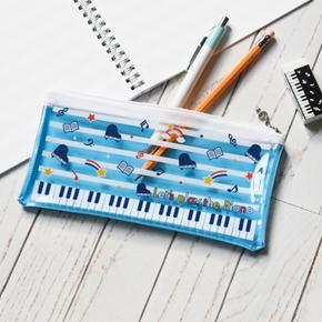 Piano line クリアペンケース(スター)ブルー