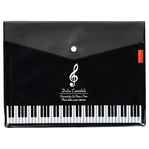 Piano line マチ付き楽譜ケースA4(ト音記号)