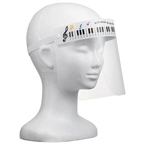 Piano line 非医療用 フェイスシールドA キッズサイズ(カラフル音符)