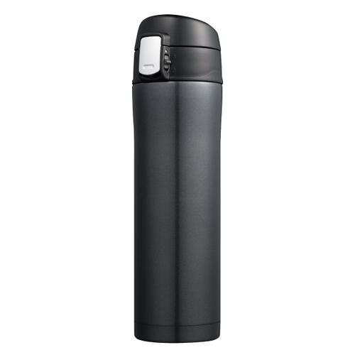 カラモ ワンプッシュ真空ステンレスボトル 480ml ブラック