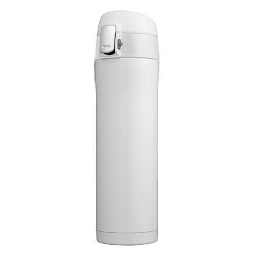 カラモ ワンプッシュ真空ステンレスボトル 480ml ホワイト