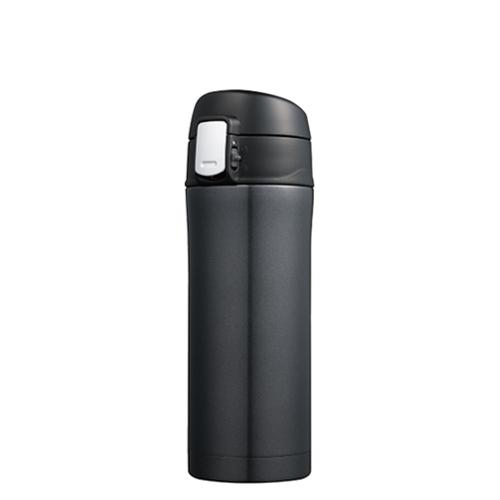カラモ ワンプッシュ真空ステンレスボトル 340ml ブラック