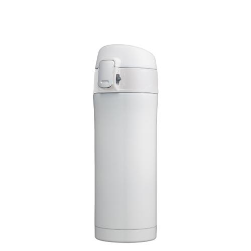 カラモ ワンプッシュ真空ステンレスボトル 340ml ホワイト