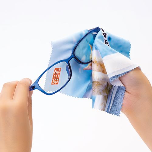 メガネ拭きに使えます