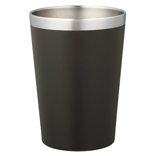 カラモ コンビニカップ対応 真空タンブラー 450ml ダークブラウン