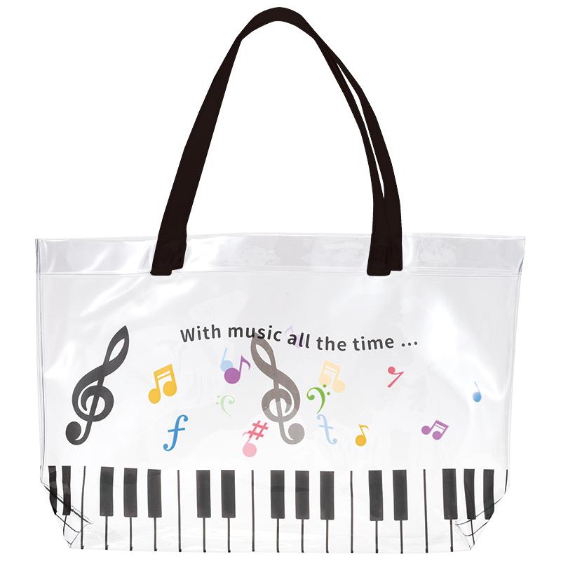 Piano line プールバッグ(カラフル音符)