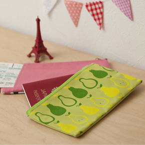 [Clean-cut] パスポート・チケットケース