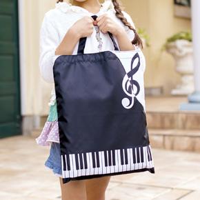 Piano line 薄手マチなしトート(縦)