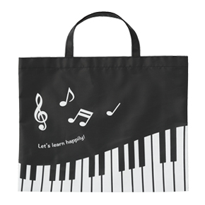 Piano line 薄手マチなしトート(横)