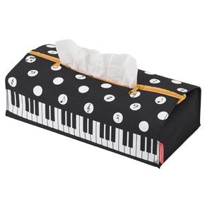 Piano line ポーチにもなるティッシュケース(水玉)