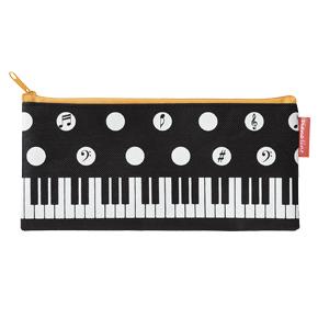 Piano line シンプルペンケース(水玉)