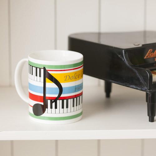 【ピアノライン】マグカップ(音符柄)